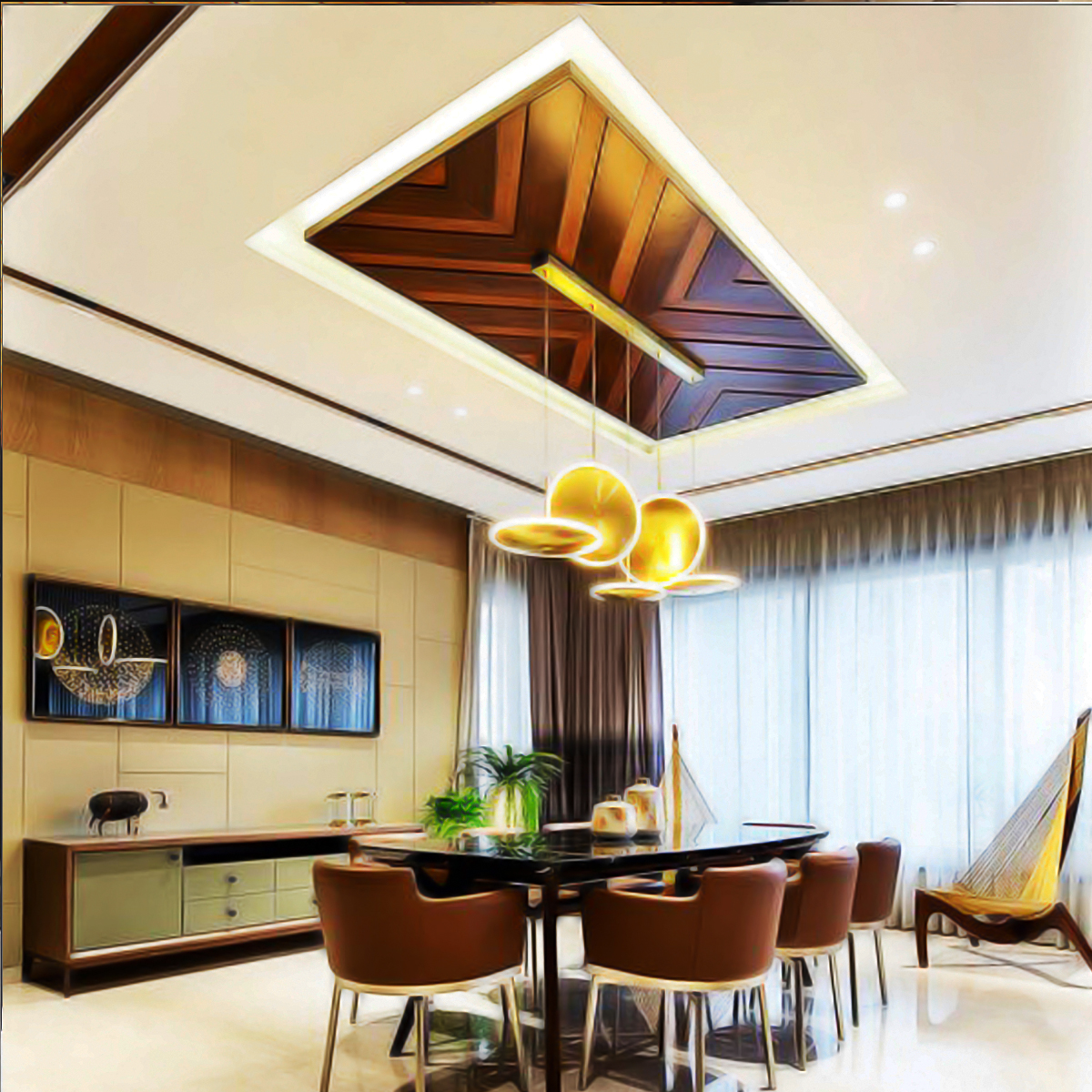 Wooden False Ceiling In Luknow Linhoff